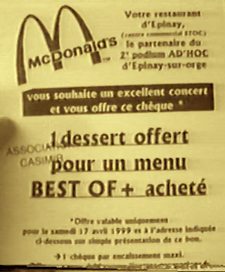 Partenariat Mc Donald's