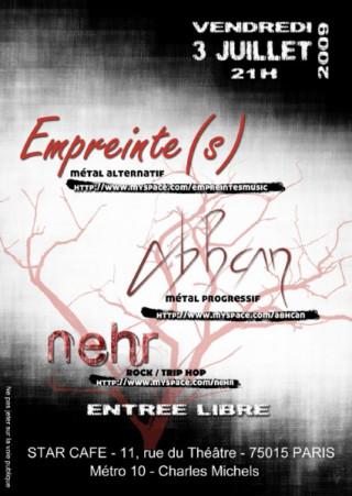 Empreinte(s) en concert avec Abhcan + Nehr au Star Café - Paris 15ème