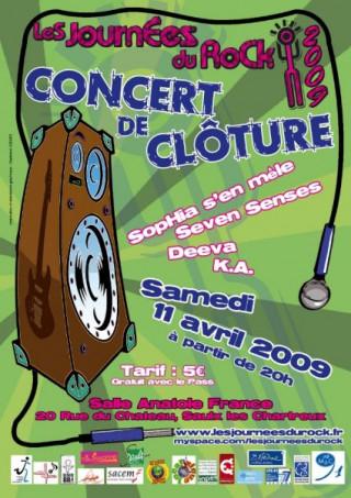 Concert de Cloture des Journées du Rock 2009