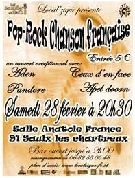 Concert Pop/Rock/Chanson Française LOCAL'ZIQUE