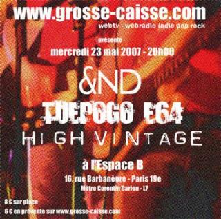 &ND (electro/post-punk) au FEST.GROSSE CAISSE (radio-webtv) mercr23/05 à l'Espace-B