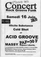 Flyer Concert AD'HOC - Rock/Groove/Funk