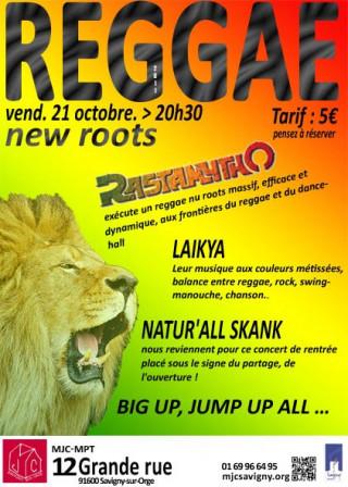 concert reggae, new roots