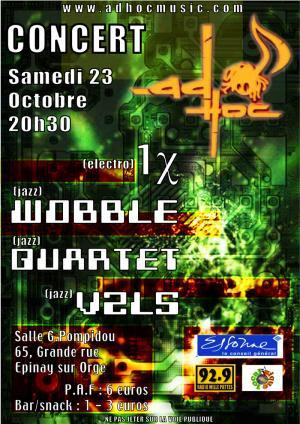 Flyer Concert AD'HOC - JAZZ/ELECTRO