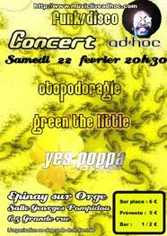 Flyer Concert AD'HOC Funk/Disco
