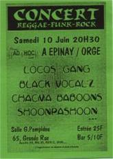 Concert AD'HOC - Reggae/Funk/Rock