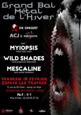 L'ACJ et Rock'Essonne présentent : Le grand bal metal de l'hiver