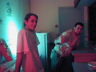 Tô et Ced au bar