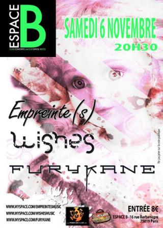 Furykane avec Wishes et Empreinte(s) en concert