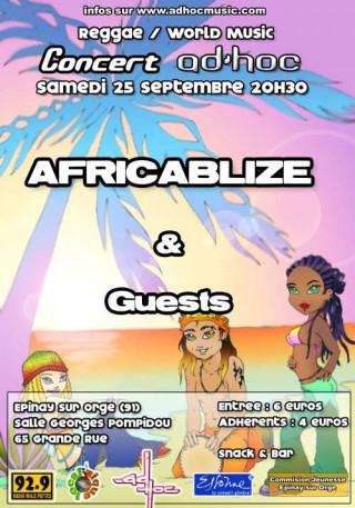 Flyer Concert AD'HOC - World/Reggae