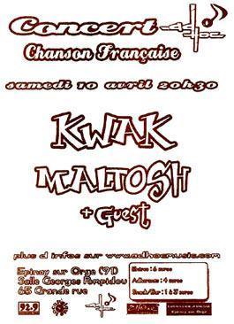 Flyer Concert AD'HOC - Chanson Française