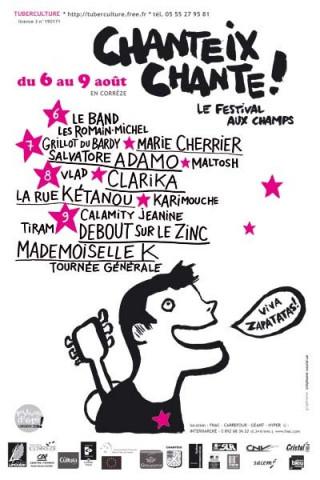 Le Festival Aux Champs à Chanteix (Corrèze)