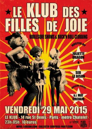 WELCOME BACK au KLUB des FILLES de JOIE!