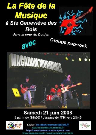 Fête de la Musique à Ste Geneviève des Bois (MACADAM'MURMURES)