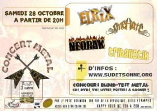 Concert Metal 4 groupes + concours