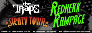 Rednekk Rampage / Sleazy Town / The Traps @Gambetta Club - Paris