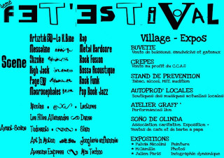 Programme Fet'Estival 2009