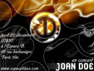 JOAN DOE à l\'Espace B le 22/12 -  pop surpuissante
