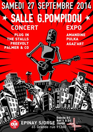 Flyer Concert/Expo AD'HOC
