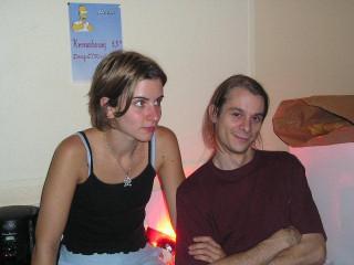 Mimi et Tô au bar