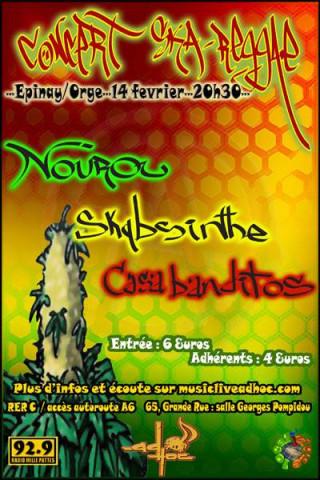 Flyer Concert AD'HOC Reggae/Afro